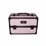 Pink Leather Make Up Case