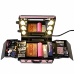 Full Mirror Traveling Case L with Led Lights